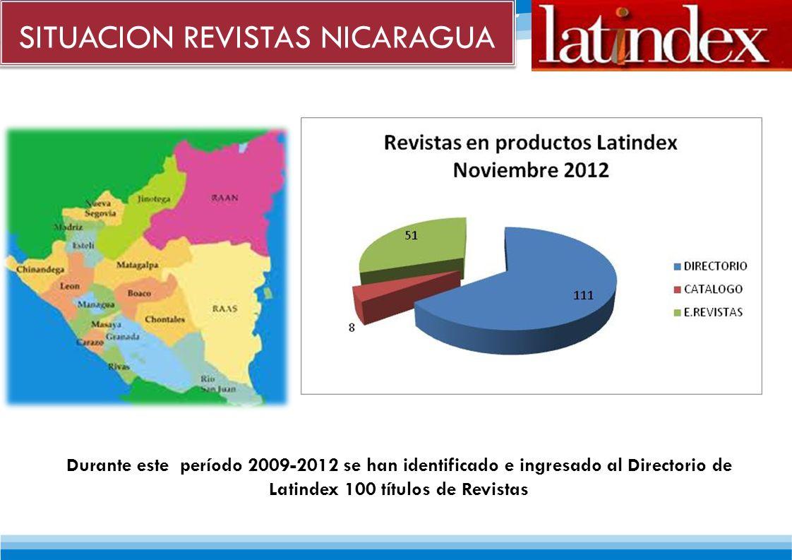 SITUACION REVISTAS NICARAGUA No.Nombre de la InstituciónDirecciónApdo.TeléfonosFaxE-mailWeb 1Asociación Nicaragüense de Productores y Exportadores de Productos No Tradicionales(APEN) Managua: Residencial Bolonia.