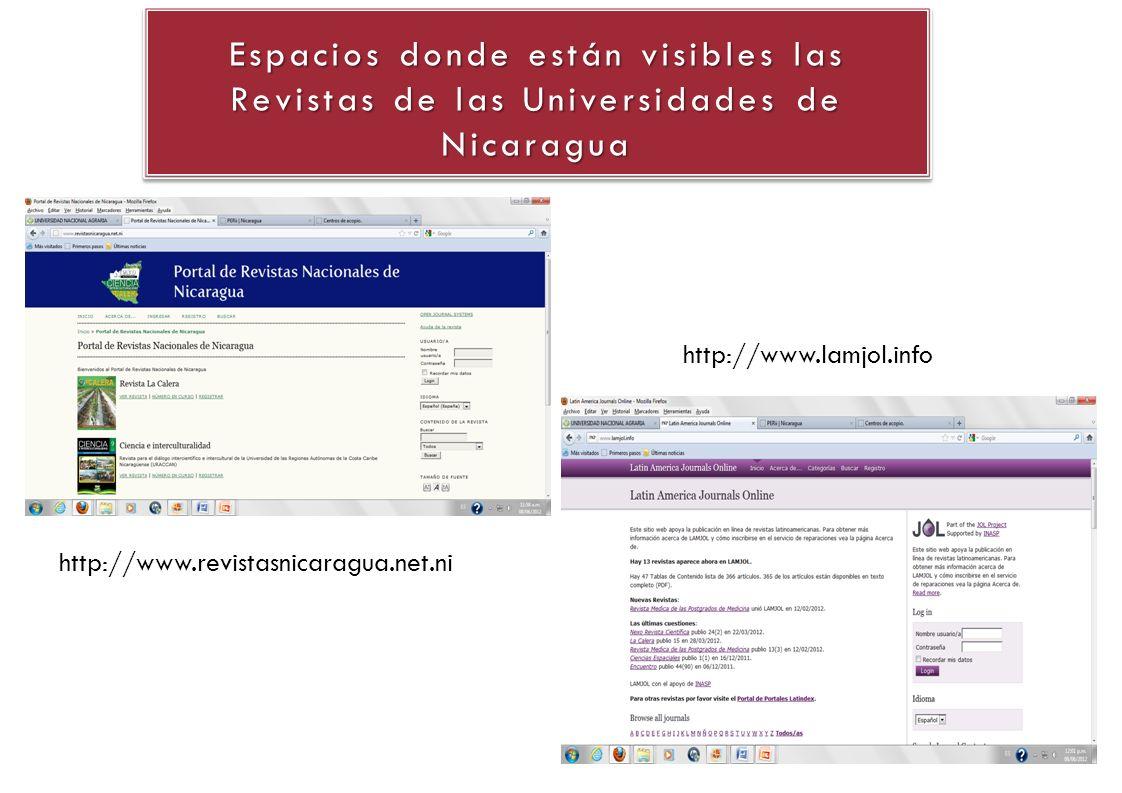 http://www.revistasnicaragua.net.ni http://www.lamjol.info