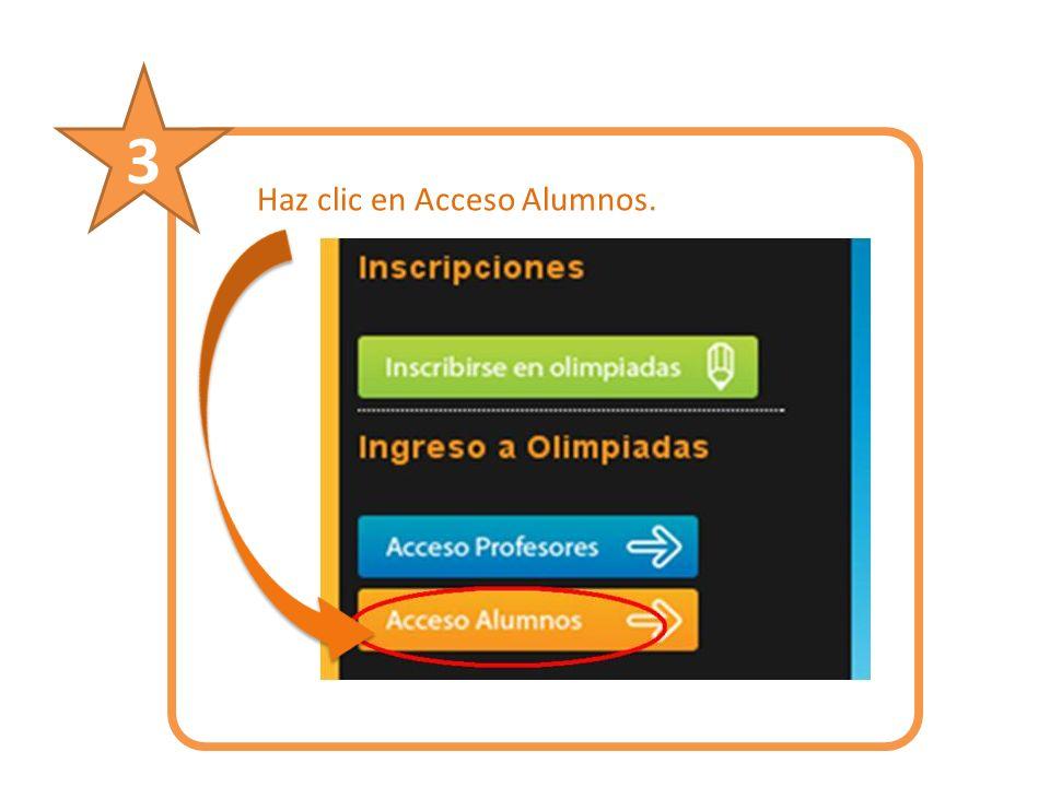 Haz clic en Acceso Alumnos. 3