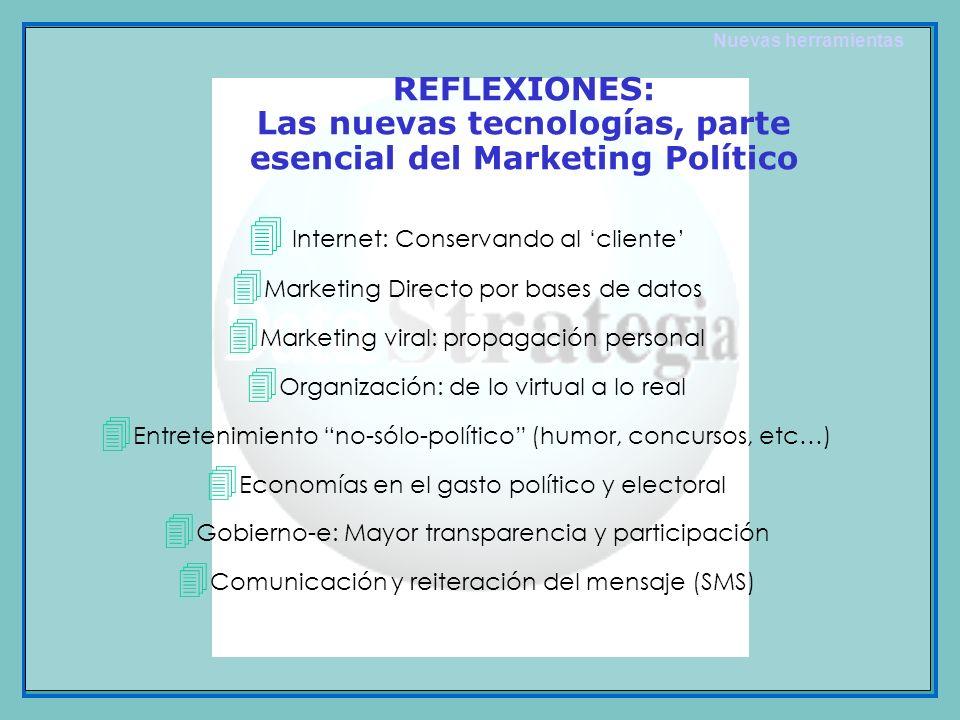 4 Internet: Conservando al cliente 4 Marketing Directo por bases de datos 4 Marketing viral: propagación personal 4 Organización: de lo virtual a lo r