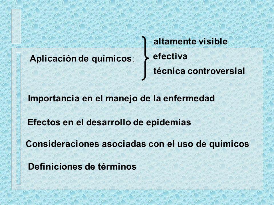 Importancia del uso químico bactericidas fungicidas insecticidas nematicidas biocidas Relación costo / beneficio Fungicidas: 18% Insecticidas, acaricidas: 28% Sustancias químicas que protegen a las plantas de la penetración o del posterior desarrollo de hongos patogénicos en sus tejidos.