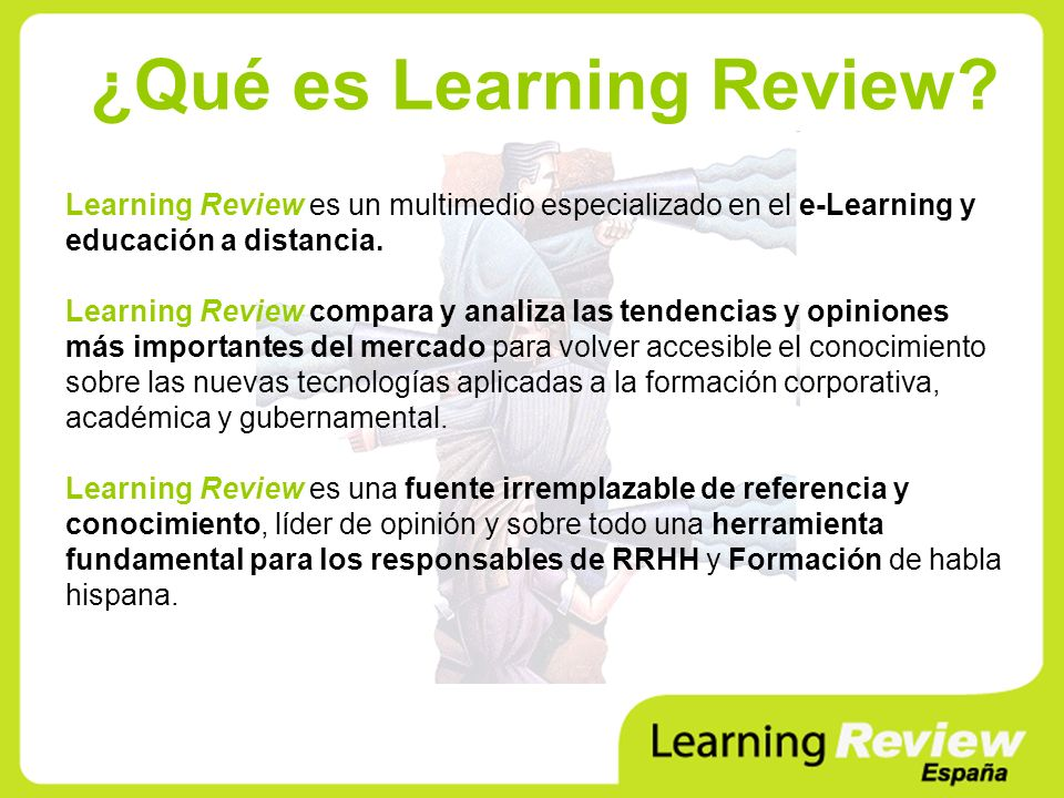 ¿Qué es Learning Review.
