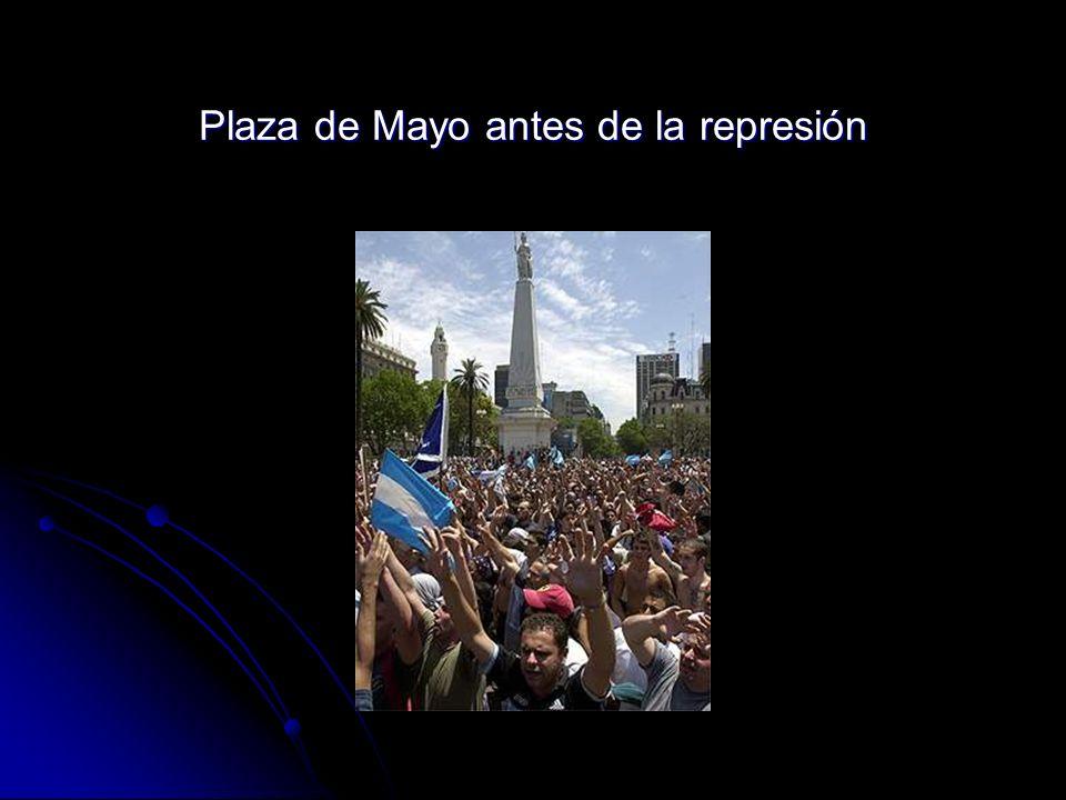 Plaza de Mayo antes de la represión