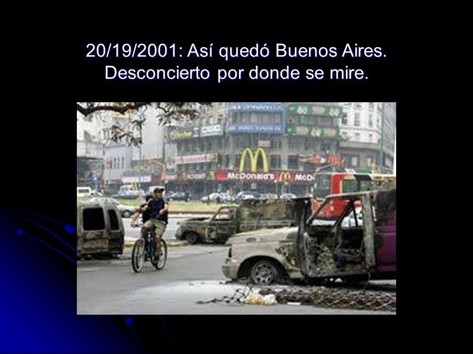 20/19/2001: Así quedó Buenos Aires. Desconcierto por donde se mire.