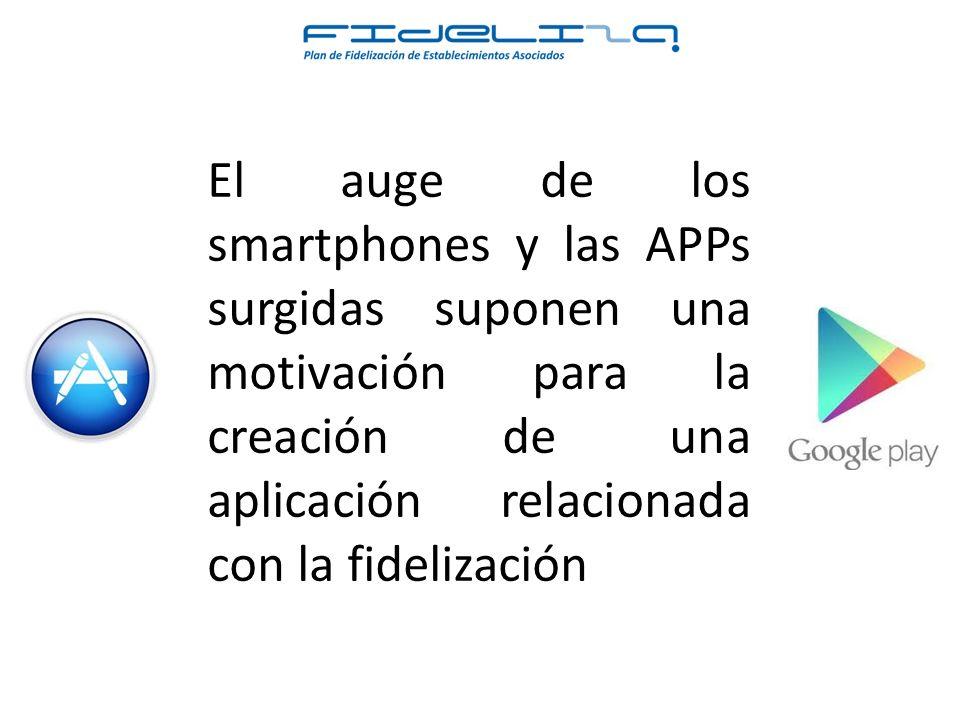 El auge de los smartphones y las APPs surgidas suponen una motivación para la creación de una aplicación relacionada con la fidelización