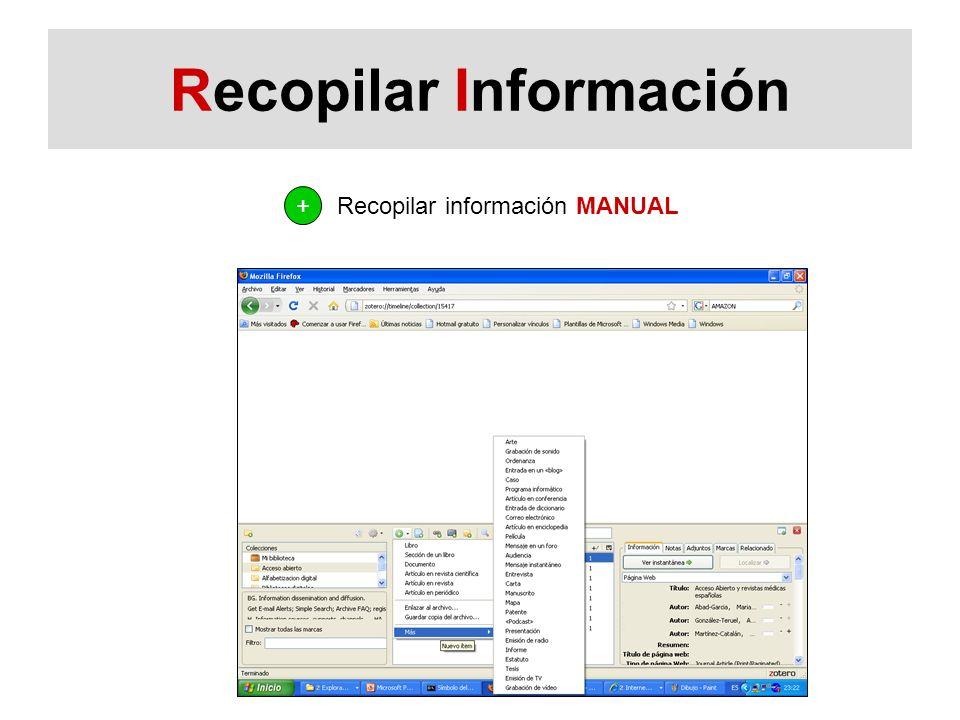 Recopilar Información Recopilar información MANUAL +