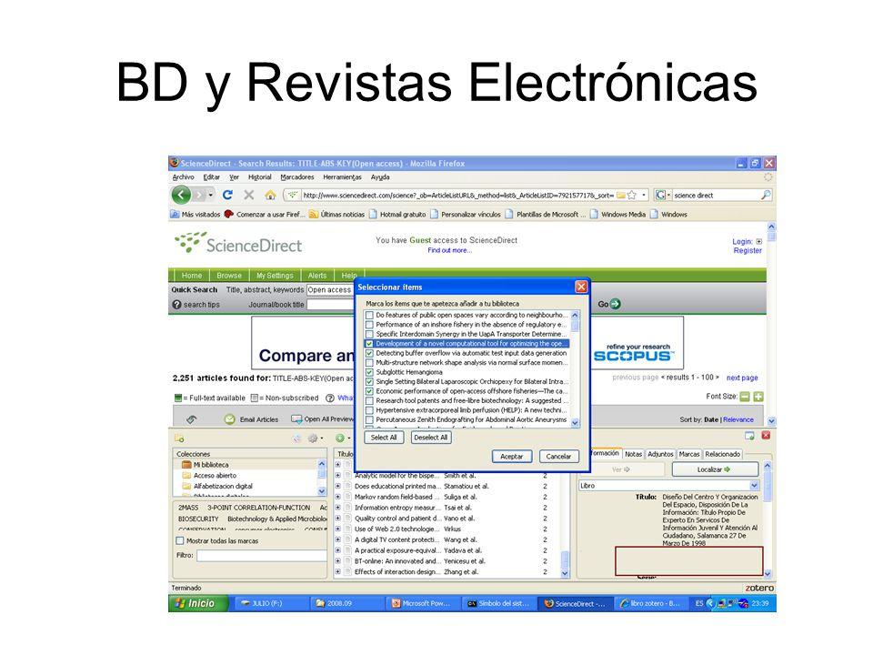 BD y Revistas Electrónicas