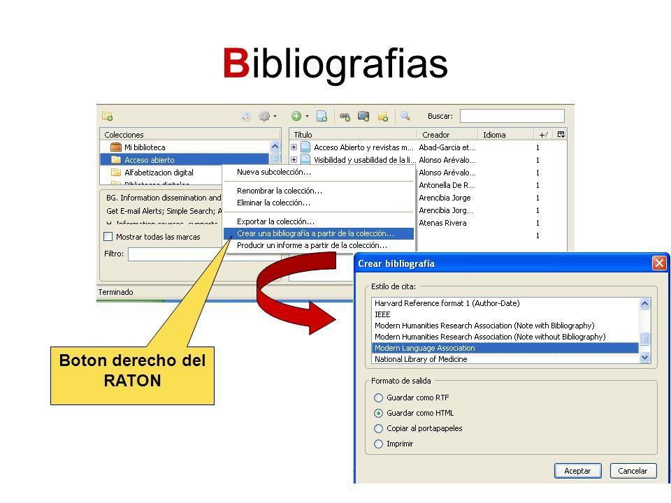 Bibliografias Boton derecho del RATON