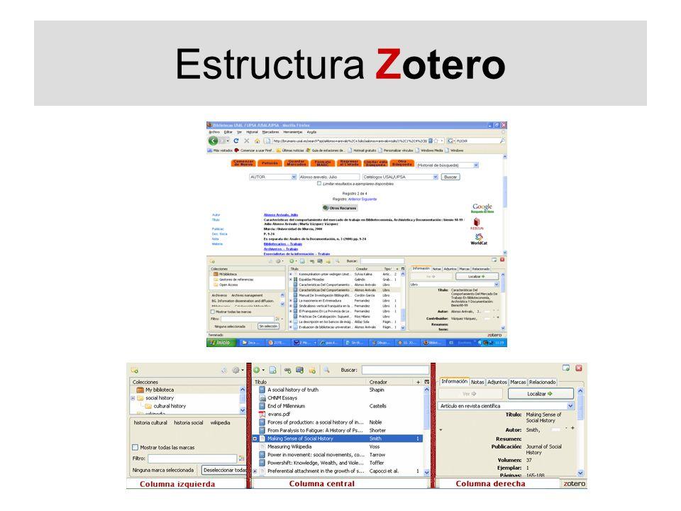 Estructura Zotero