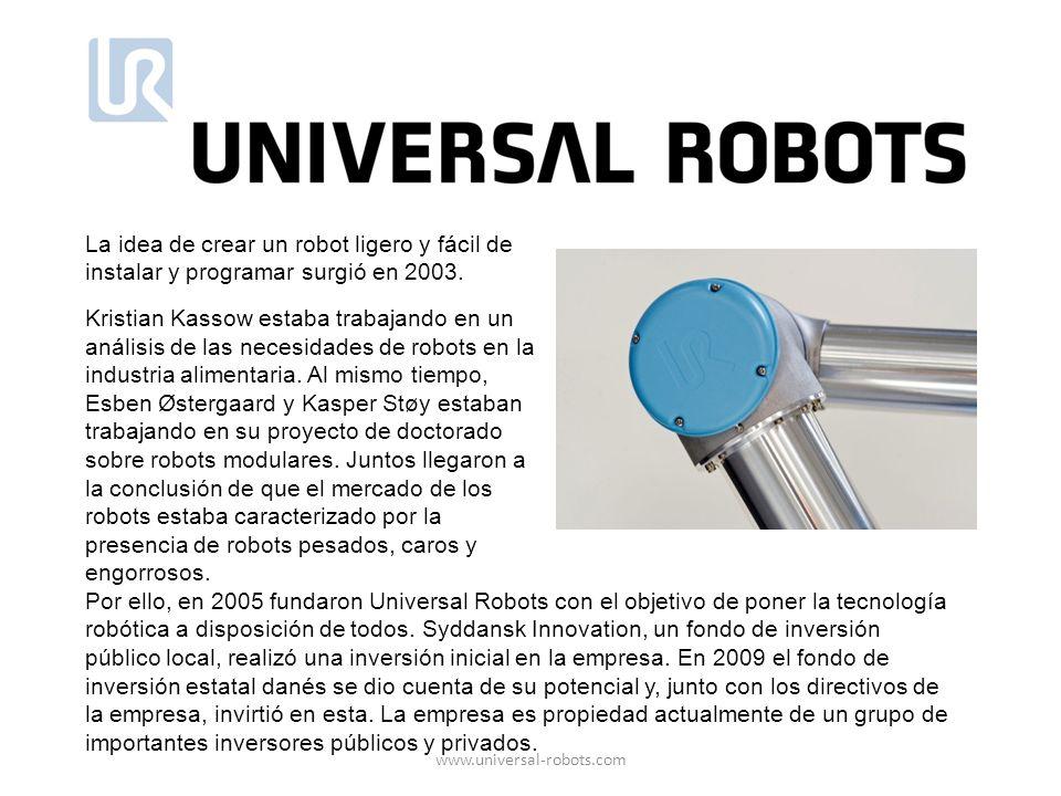 Por ello, en 2005 fundaron Universal Robots con el objetivo de poner la tecnología robótica a disposición de todos. Syddansk Innovation, un fondo de i