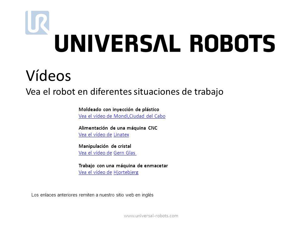 Vídeos Vea el robot en diferentes situaciones de trabajo Moldeado con inyección de plástico Vea el vídeo de Mondi,Ciudad del Cabo Alimentación de una