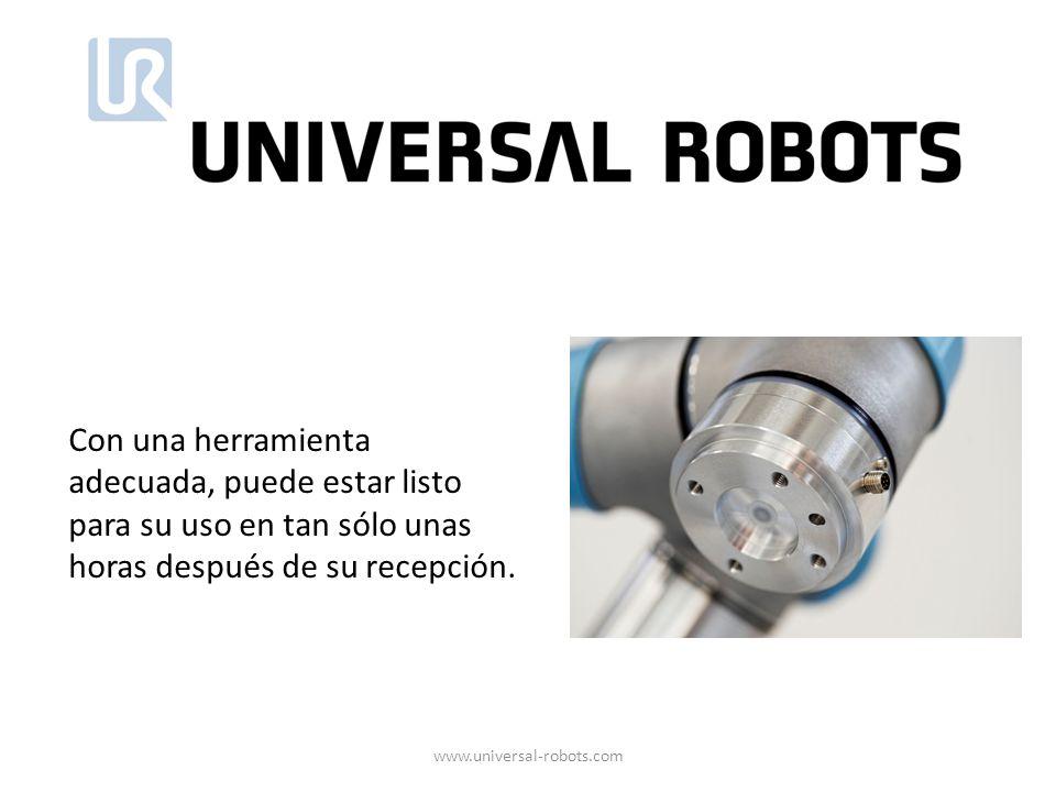 Con una herramienta adecuada, puede estar listo para su uso en tan sólo unas horas después de su recepción. www.universal-robots.com