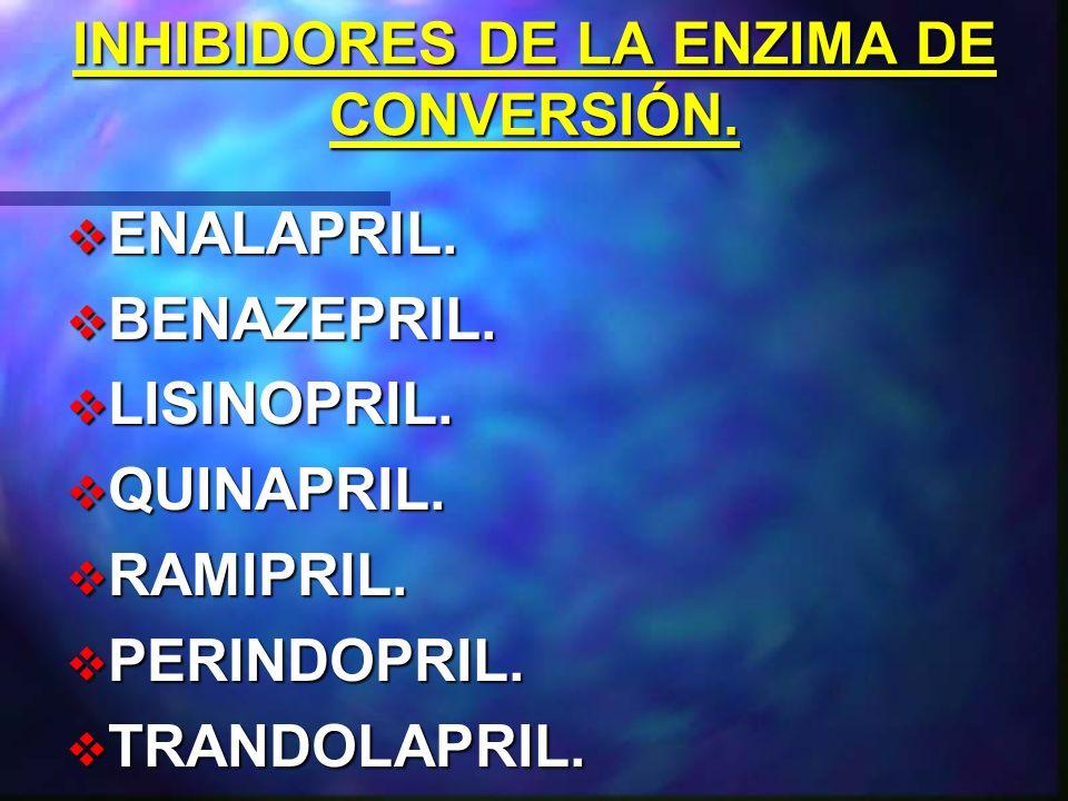INHIBIDORES DE LA RENINA. ENALKIREN. ZANKIREN. REMIKIREN. ALISKIREN.