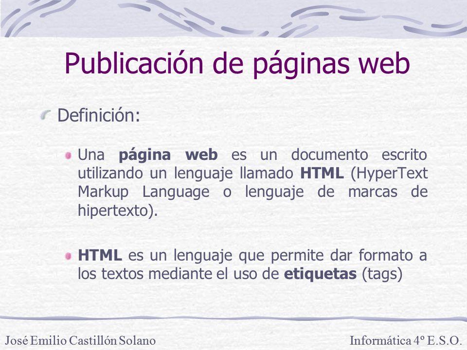 Definición: Una página web es un documento escrito utilizando un lenguaje llamado HTML (HyperText Markup Language o lenguaje de marcas de hipertexto).
