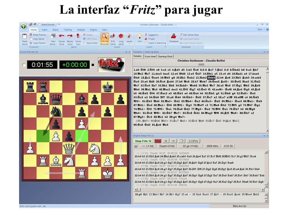 La interfaz Fritz para jugar