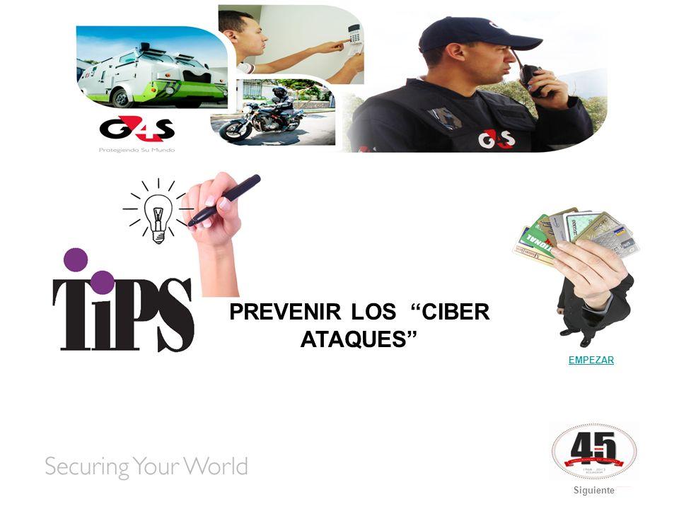 Página PrincipalSiguiente Los ciberataques son una nueva forma de delincuencia online.