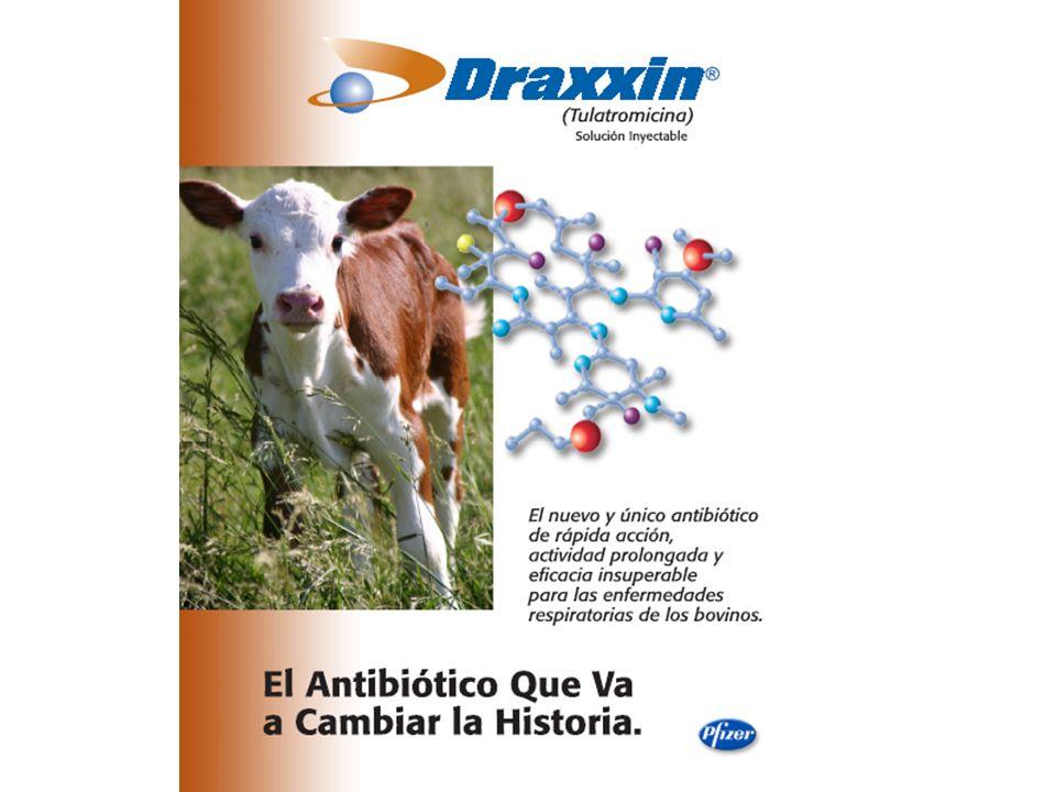 Microbiología Draxxin presenta una excelente actividad contra M.
