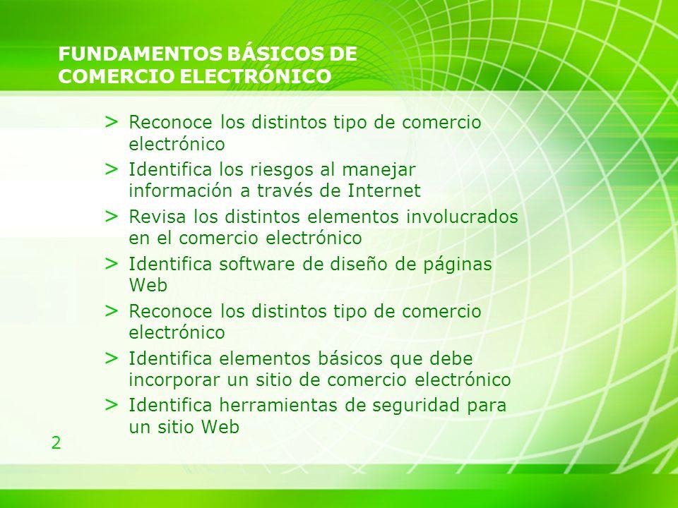 2 FUNDAMENTOS BÁSICOS DE COMERCIO ELECTRÓNICO > Reconoce los distintos tipo de comercio electrónico > Identifica los riesgos al manejar información a