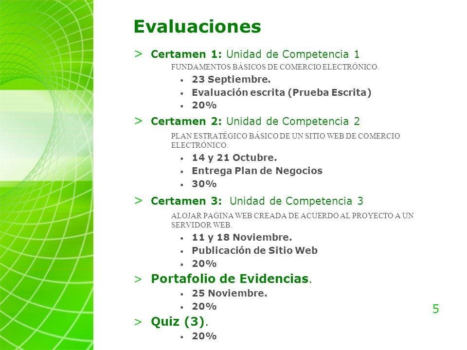 5 Evaluaciones > Certamen 1: Unidad de Competencia 1 FUNDAMENTOS BÁSICOS DE COMERCIO ELECTRÓNICO.