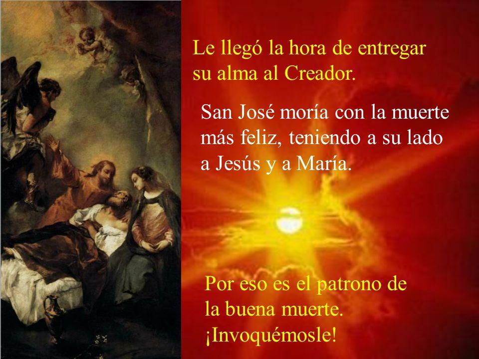 San José sentía que sus fuerzas iban faltando y le dejó el peso de la carpintería a Jesús.