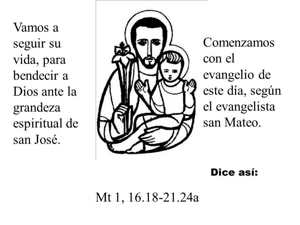 San José fue el varón justo. Esta justicia significa bondad. Y, porque era bueno, prefirió sacrificarse él, marcharse antes que acusar a María.