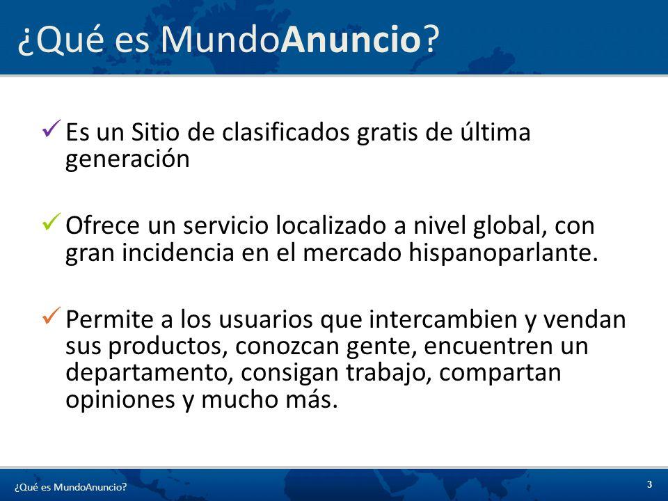 4 MundoAnuncio fue fundada por Jordi Castelló (fundador de www.emagister.com )www.emagister.com MundoAnuncio inició sus actividades en septiembre de 2003 Octubre de 2006: MundoAnuncio fue adquirida por OLX, sitio de clasificados mundial (www.olx.com), fundada por Alec Oxenford (fundador de www.deremate.com) y Fabrice Grinda (fundador de www.zingy.com )www.olx.com www.deremate.comwww.zingy.com Abril de 2008 : MundoAnuncio supera las 90 millones de páginas vistas MundoAnuncio tiene oficinas en Buenos Aires, Beijing, Nueva Delhi y New York MundoAnuncio está conformado por más de 9 millones de anuncios.