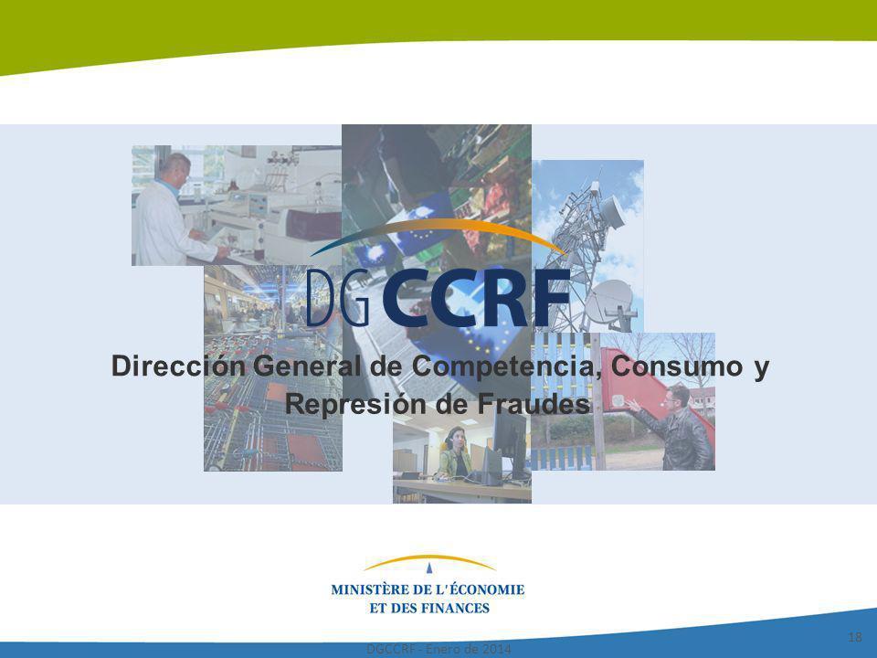DGCCRF - Enero de 2014 18 Dirección General de Competencia, Consumo y Represión de Fraudes