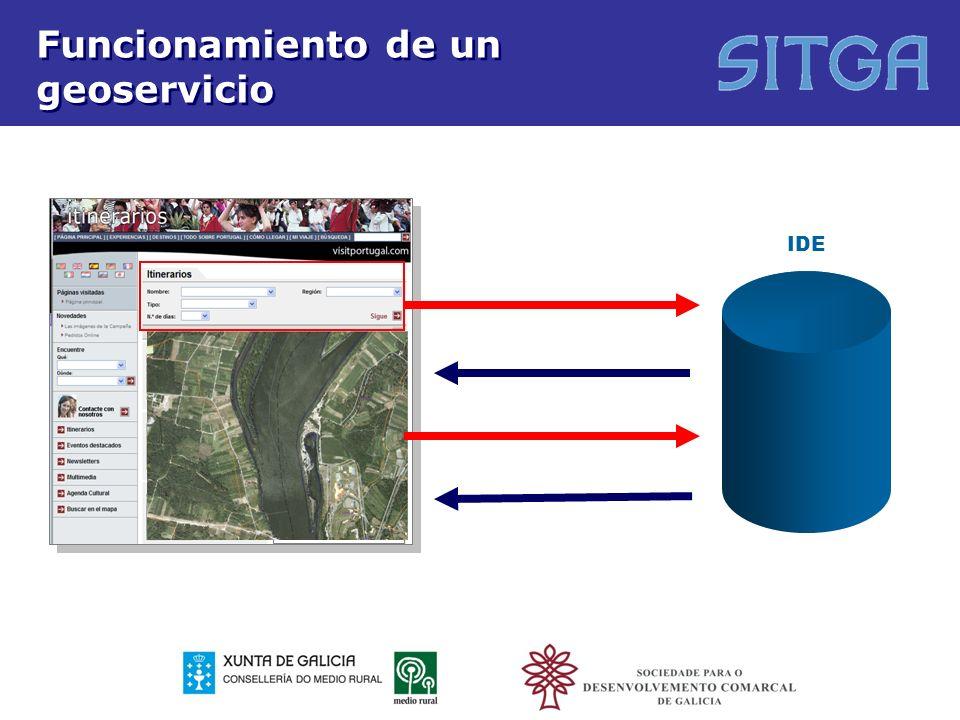 Tipos de servicios Servicios de localización que hagan posible buscar conjuntos y servicios de datos espaciales partiendo del contenido de los metadatos correspondientes, así como mostrar el contenido de los metadatos.