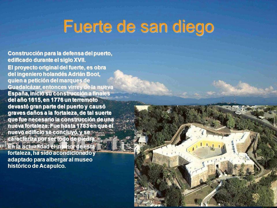 Fuerte de san diego Construcción para la defensa del puerto, edificado durante el siglo XVII.Construcción para la defensa del puerto, edificado durant