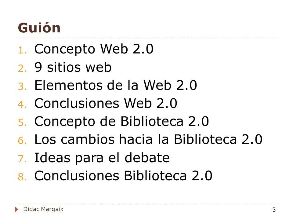Datos: compartir y remezclar Concepto: Algunos servicios web comparten sus datos, otros los remezclan creando nuevos servicios.