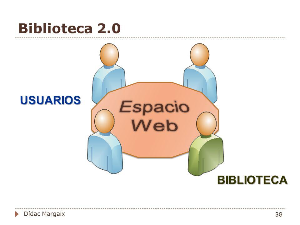 Biblioteca 2.0 USUARIOS BIBLIOTECA 38 Dídac Margaix