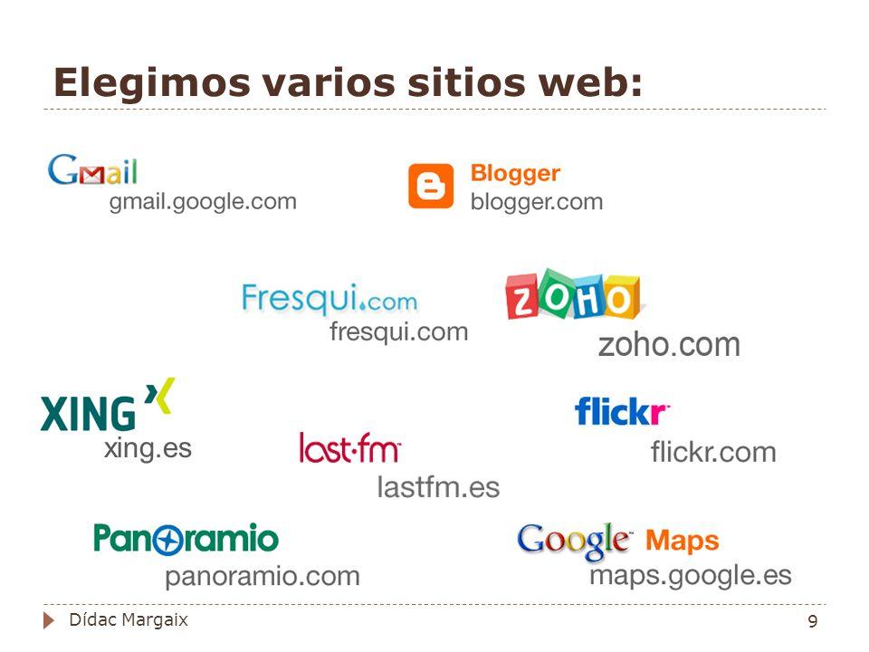 Elegimos varios sitios web: xing.es 9 Dídac Margaix