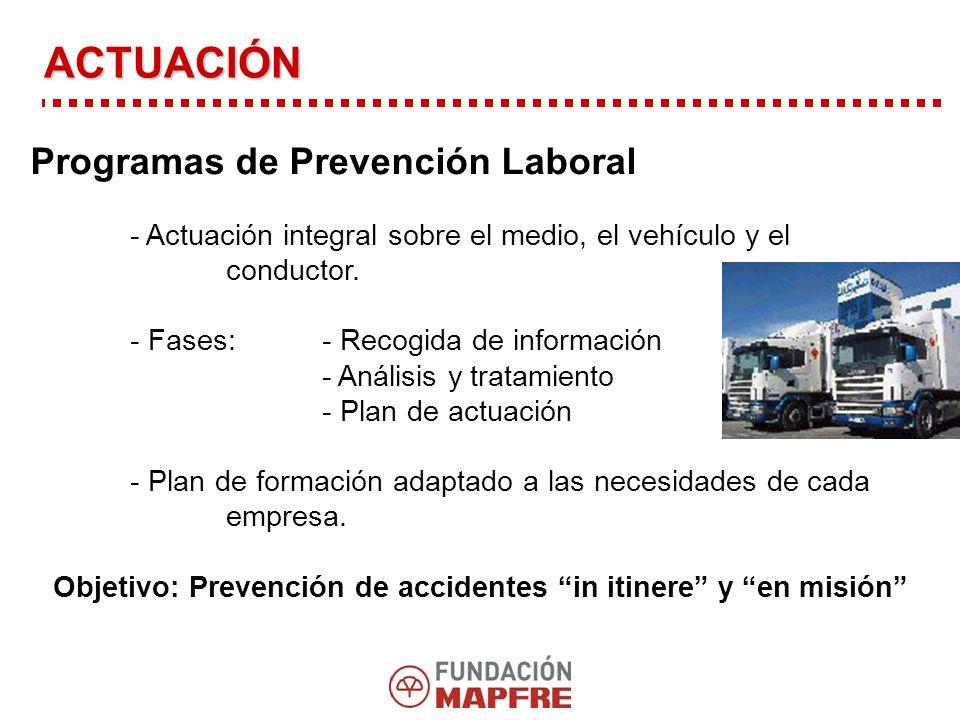 Programas de Prevención Laboral - Actuación integral sobre el medio, el vehículo y el conductor.