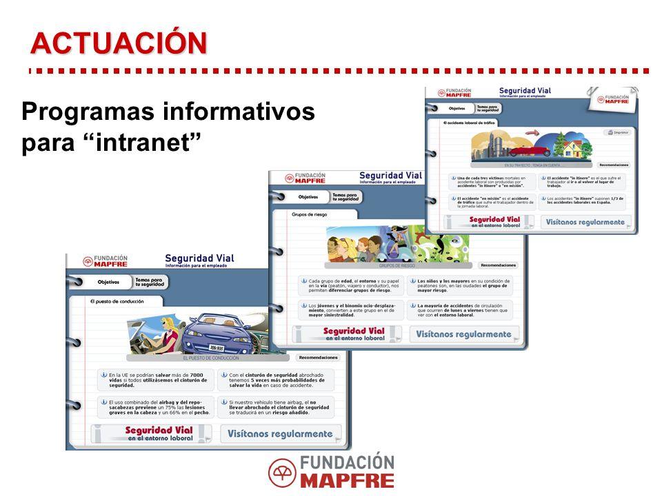 Programas informativos para intranet ACTUACIÓN