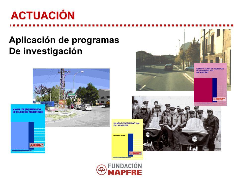 Aplicación de programas De investigación ACTUACIÓN