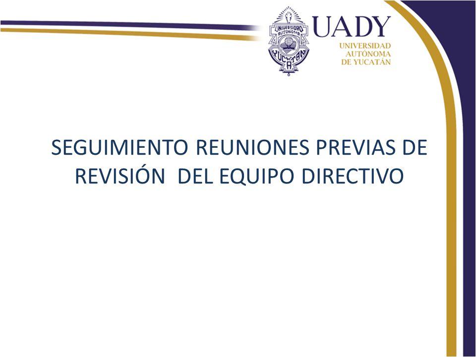 SEGUIMIENTO REUNIONES PREVIAS DE REVISIÓN DEL EQUIPO DIRECTIVO