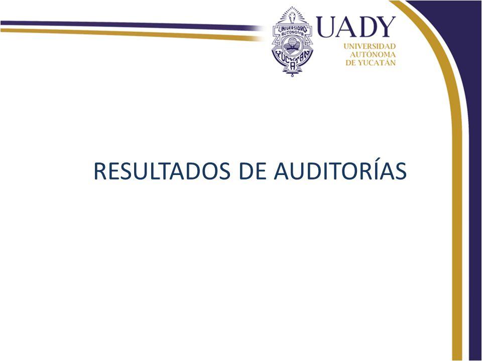 RESULTADOS DE AUDITORÍAS