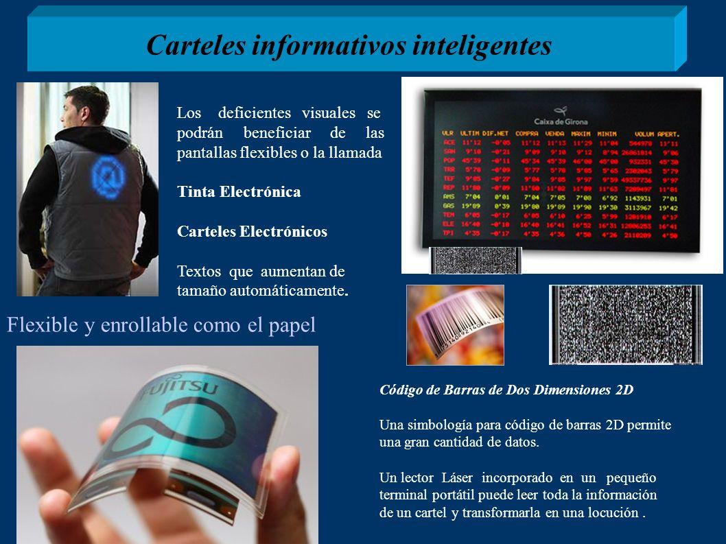 Carteles informativos inteligentes Código de Barras de Dos Dimensiones 2D Una simbología para código de barras 2D permite una gran cantidad de datos.
