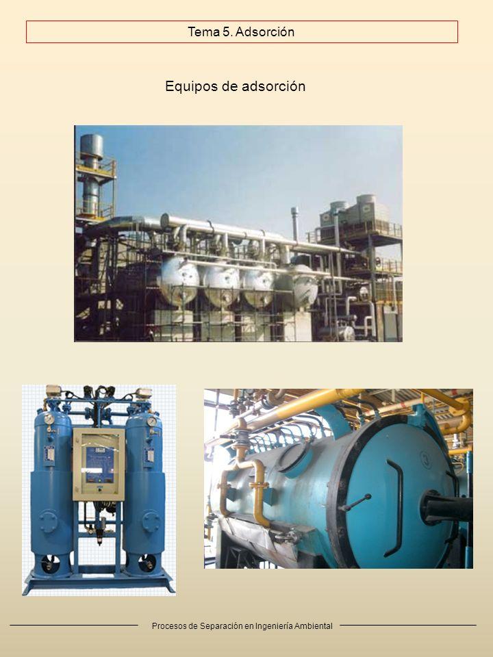 Procesos de Separación en Ingeniería Ambiental Equipos de adsorción Tema 5. Adsorción