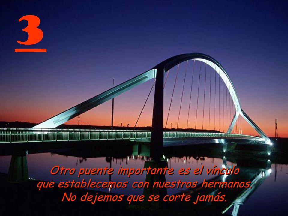 3 Otro puente importante es el vínculo que establecemos con nuestros hermanos.