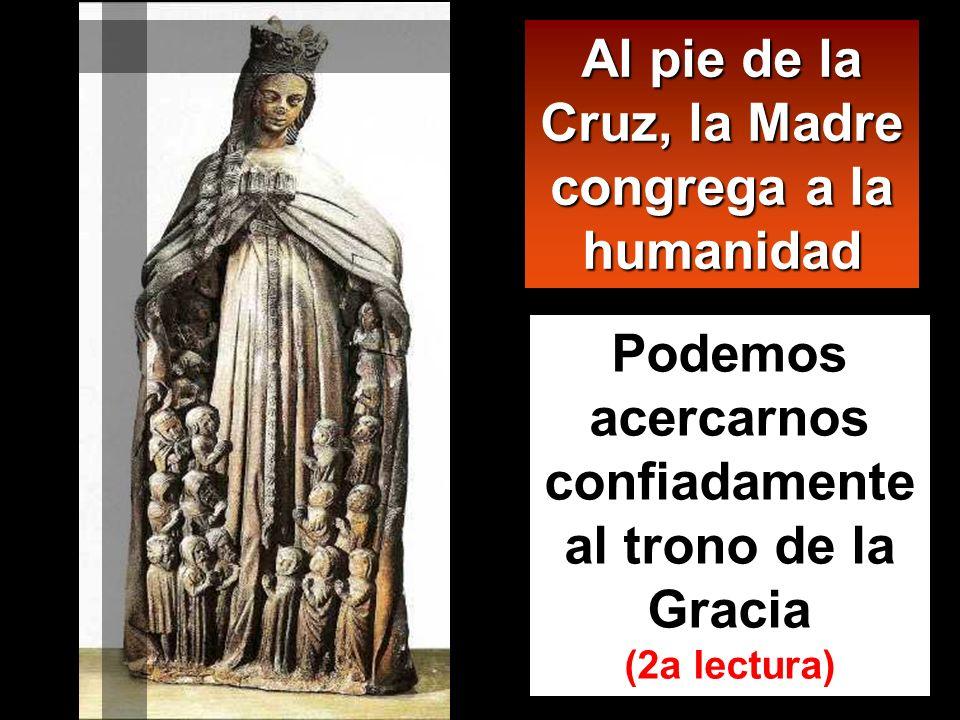 Junto a la cruz de Jesús estaban su madre, la hermana de su madre, María, la de Cleofás, y María, la Magdalena. Jesús, al ver a su madre y cerca al di