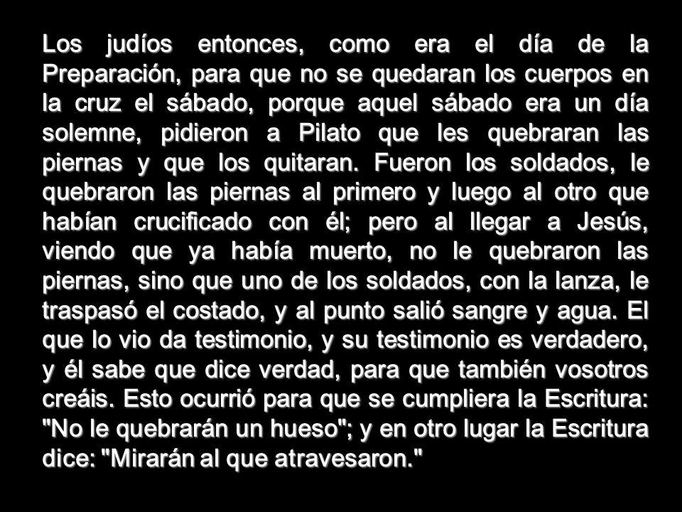 MIRARÁN AL QUE ATRAVESARON