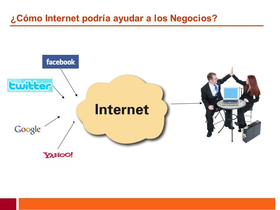 ¿Cómo Internet podría ayudar a los Negocios?