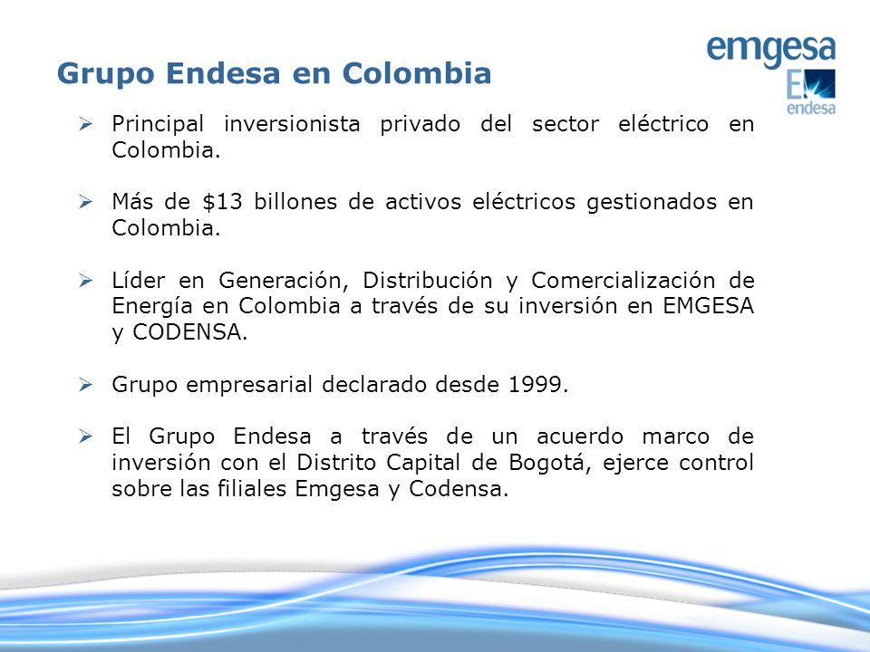 Principal inversionista privado del sector eléctrico en Colombia. Más de $13 billones de activos eléctricos gestionados en Colombia. Líder en Generaci