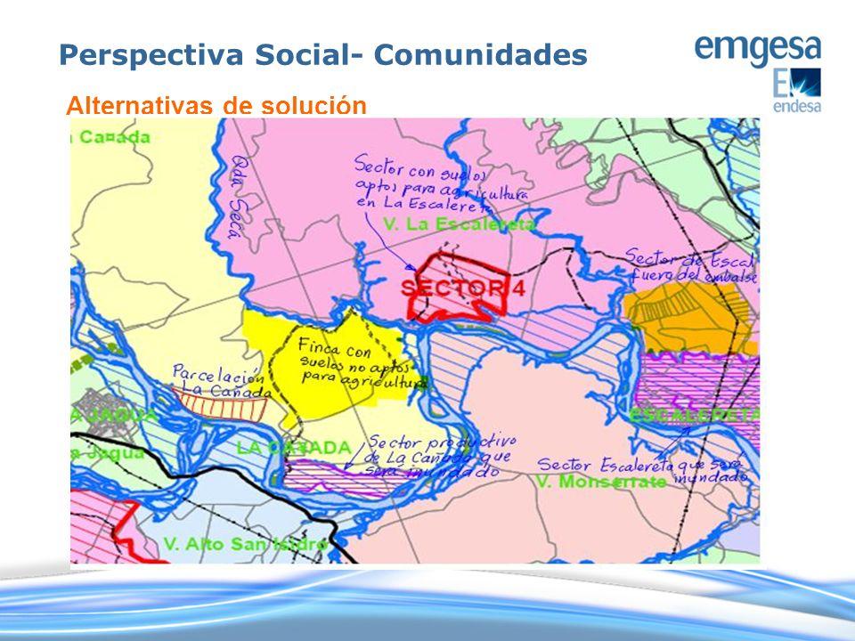 Perspectiva Social- Comunidades Alternativas de solución