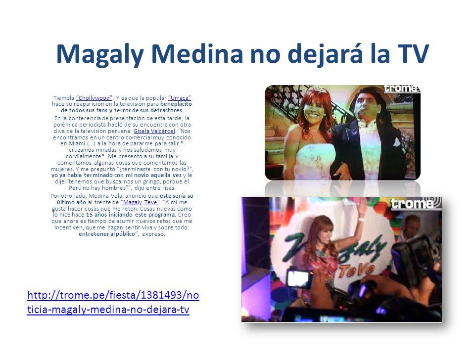 Magaly Medina reaparece en su última etapa televisiva Magaly Medina reaparecerá con su programa desde este lunes 5 de marzo y anunció que este año cerrará un círculo en la televisión.