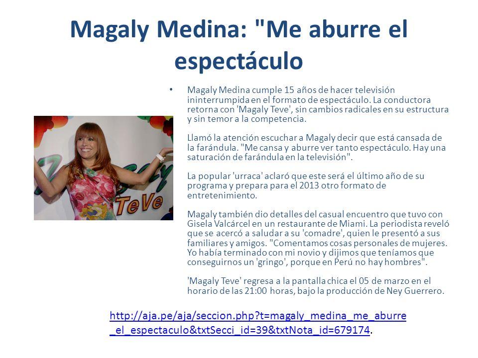 Magaly Medina: Al fondo hay sitio no me quita el sueño No le teme a Al fondo hay sitio.