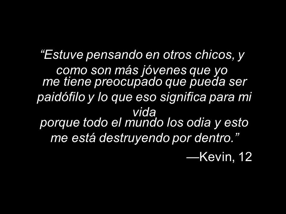 Estuve pensando en otros chicos, y como son más jóvenes que yo Kevin, 12 me tiene preocupado que pueda ser paidófilo y lo que eso significa para mi vi