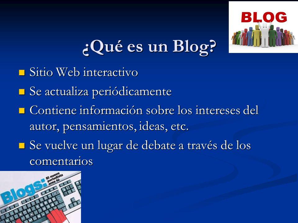¿Para qué usar un Blog?
