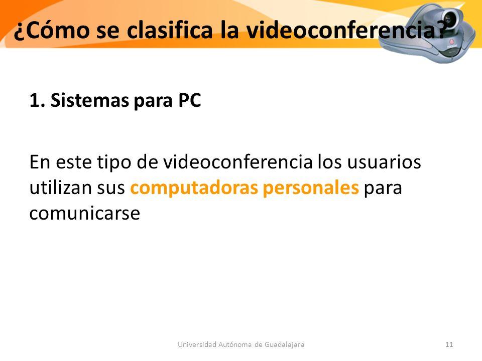 ¿Cómo se clasifica la videoconferencia.1.